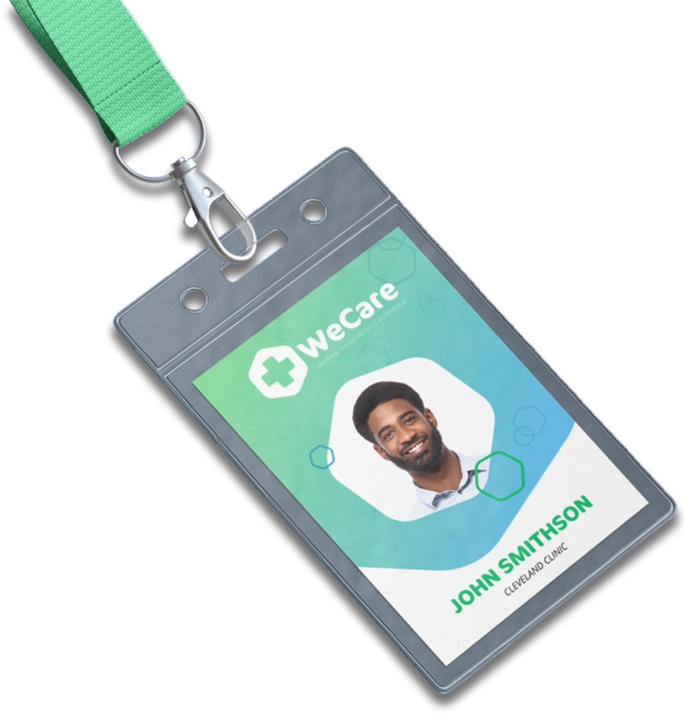 printed event badge