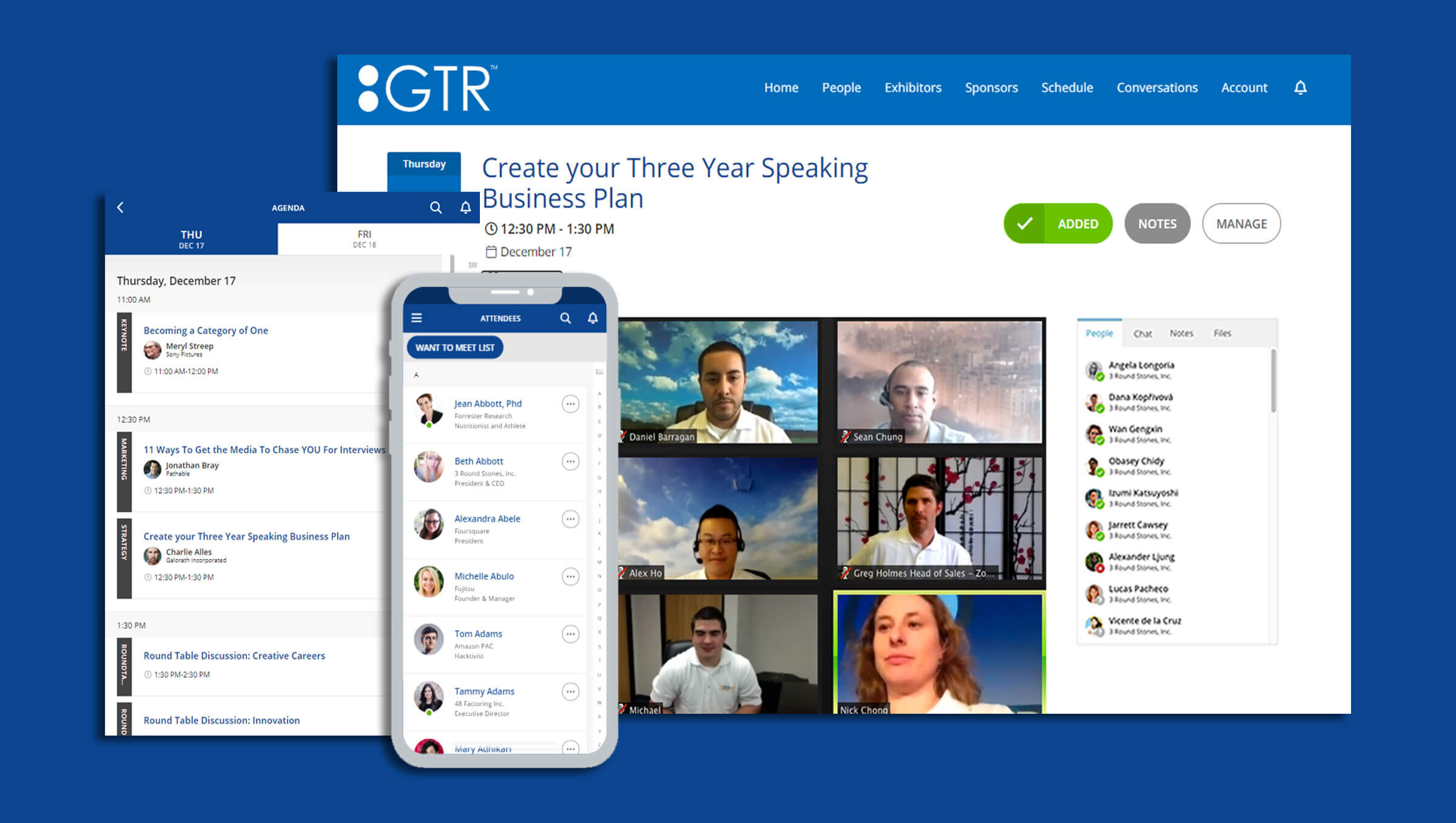 The GTR™ Virtual Event Platform