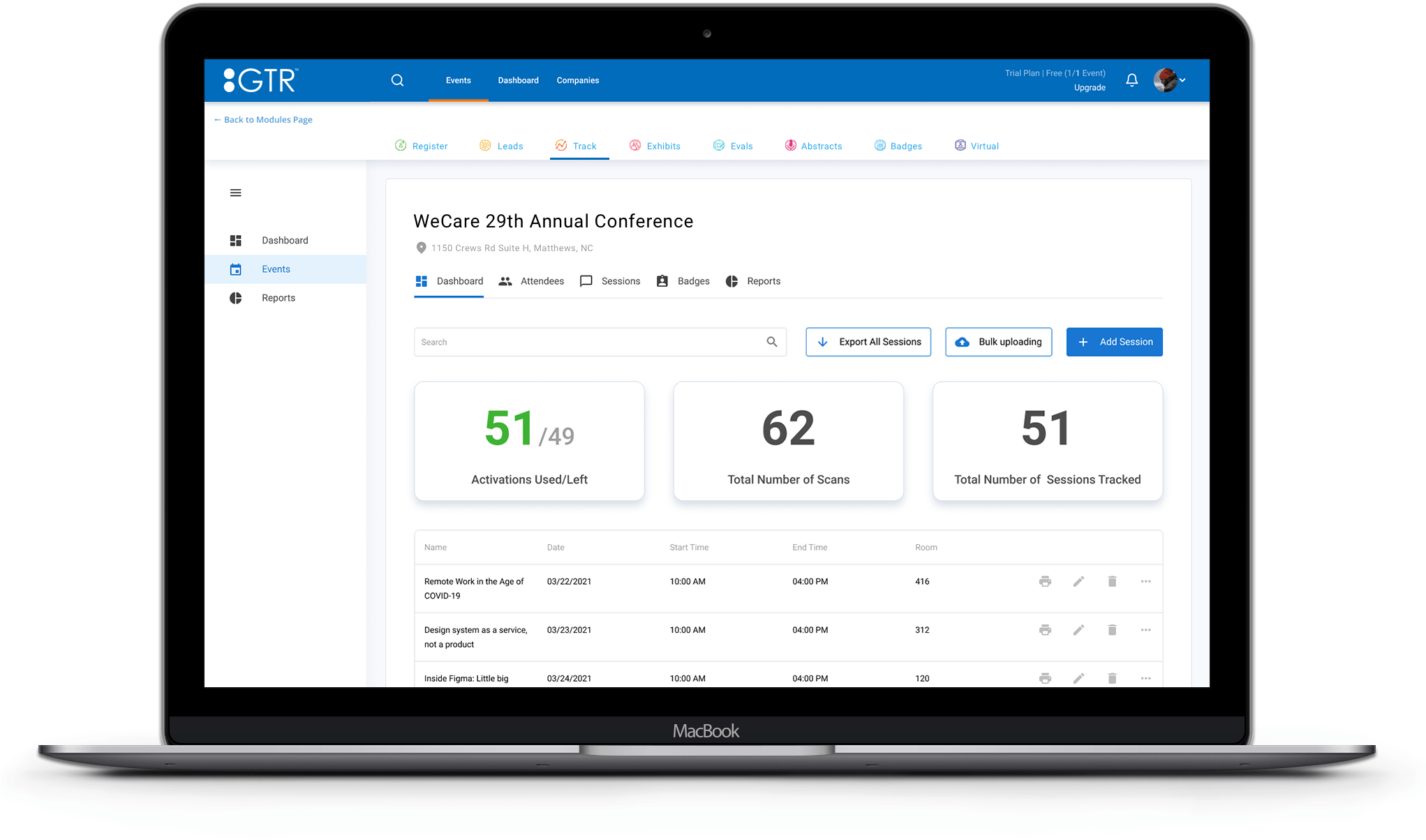 attendance tracking admin dashboard
