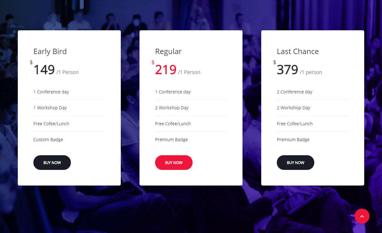 manage event pricing levels