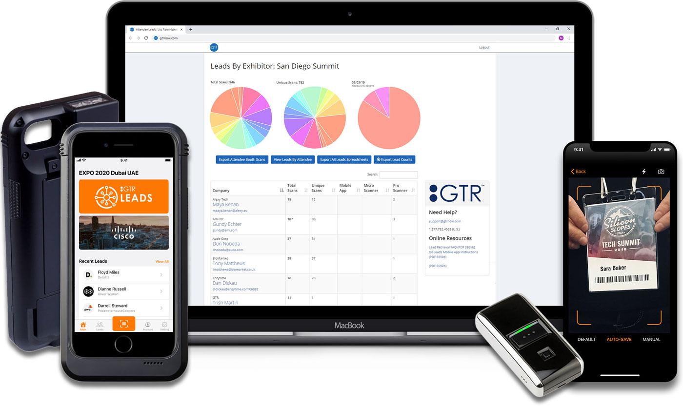 lead retrieval app and devices