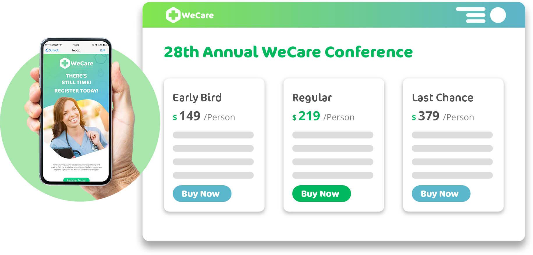 manage registration pricing