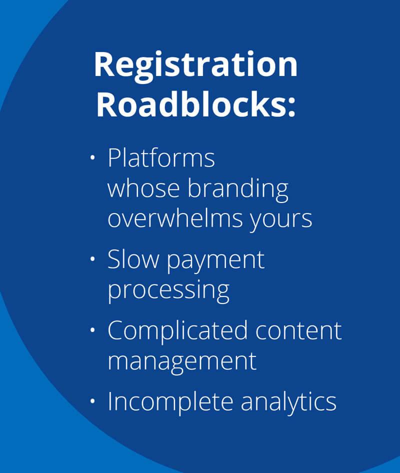 registration roadblocks