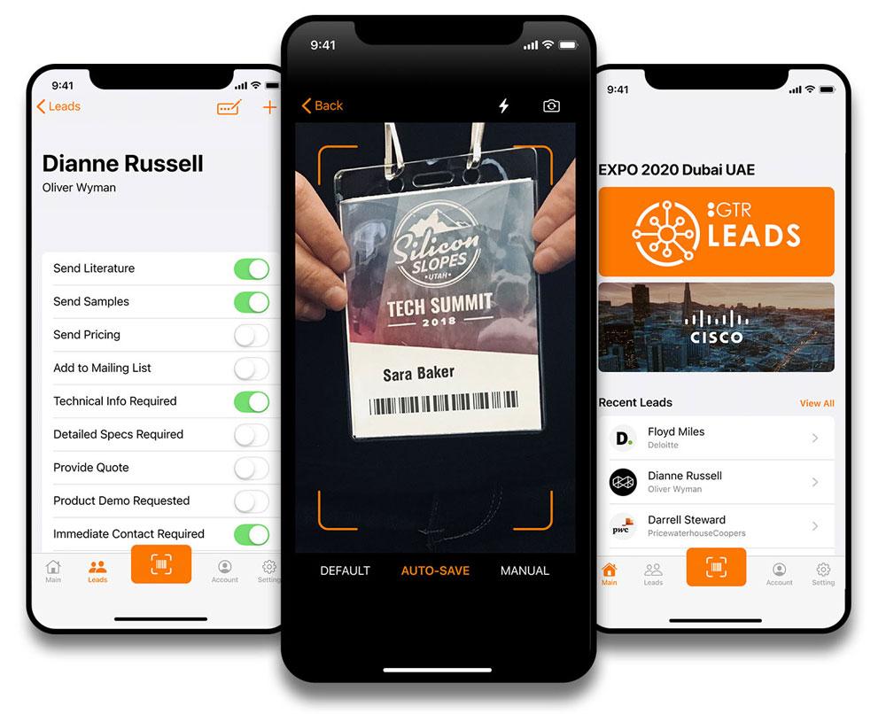 gtr leads mobile app