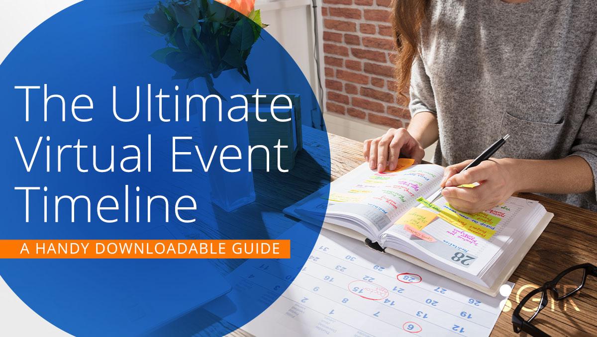 virtual event timeline